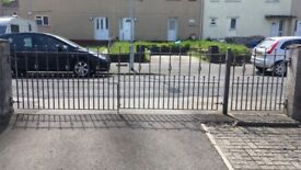 Double driveway galvanised steel gates plus one garden gate..........silver