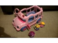 Fisher Price Little People - Pink School Bus with figures