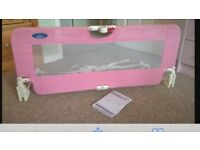 Pink baby bed guard