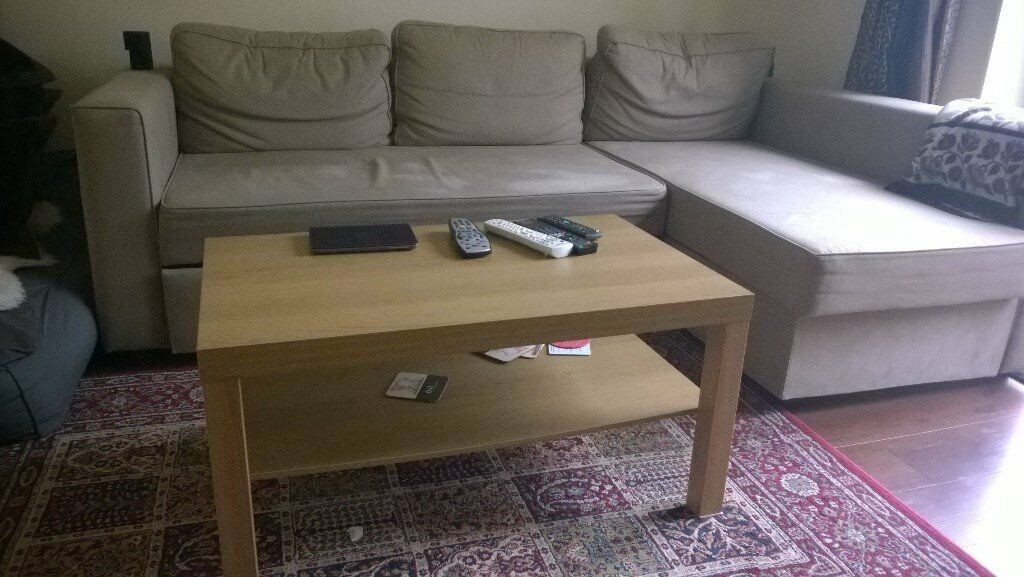Ikea 3 Seater Corner Sofa Bed Holmsund With Storage Light Brown