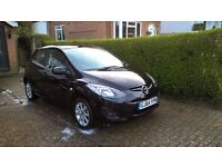 Mazda 2 SE, 1.3L Petrol, Black, 22000 miles, FSH, A/C, CD Player, low road tax, 50mpg, VGC