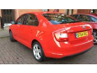 SKODA RAPID 1.6 TDI SE AUTOMATIC 2014 64 £4995 RED DRIVES EXCELLENT