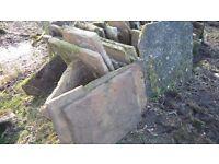 Paving slabs York Stone
