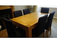Oak Table and 6 chairs (will consider selling seperately)