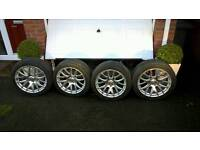 4 X 19' ALLOY WHEELS 3SDM 0.01 WITH TYRES