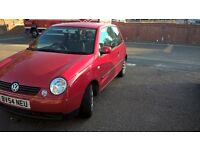 Vw Lupo 1.0L 3 Doors Red 2004 Very Economy