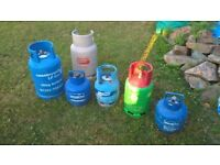 Selection of Gas Bottles