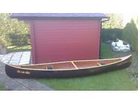 14' plywood canoe home made to Selway Fisher plans with sheathed fibreglass hull