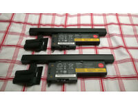 2 x Lenovo Type 22++ ThinkPad Batteries and Battery Spacers