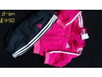 BABY GIRLS ADIDAS TRACKSUIT, SIZE 3-6MTHS .... NOW SOLD