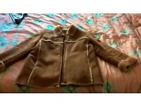 Convincing sheepskin aviator flying jacket for sale