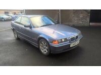 BMW E36 316 COUPE CLEAN CAR LOW MILES RWD CHEAPER PX WELCOME £795