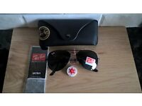Rayban black aviator sunglasses. New in box