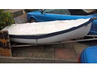 10 foot sailing or rowing boat