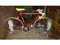 vintage retro raleigh single speed road bike,23 inch frame