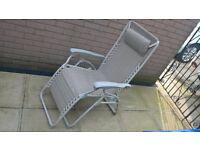 Reclining Outdoor Sun Chair - Garden / Caravan