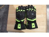 Motorcycle Gloves by Buffalo Black and Green size 7 as new.