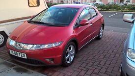 2.2 cdti ,Honda Civic red, 2008 MOT dec 2017