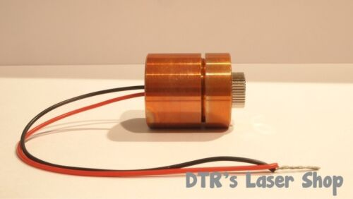 25mm 7W NUBM44-V2 450nm Laser Diode In 25mm Copper Module W/Leads & G2 Lens