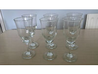 Set of 6 Glasses, Wine Glasses