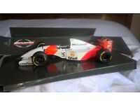 1 : 18 scale early Paul Model Art Aryton Senna MP4/8 Maclaren Ford Formula One model car