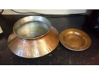 Genuine Indian cooking pot, haandi, copper, clay and stainless steel.