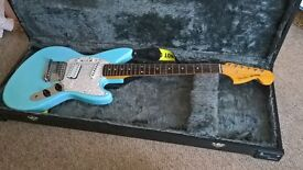 Fender Jag-Stang '96, designed by Kurt Cobain, in Sonic Blue. Fantastic condition.