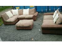 Still as New Stunning Corner Sofa Set. Over £1500 new. Can deliver.