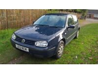 02 VW Golf looks and drives fine 2 months MOT economical 1.4 private plate included £350