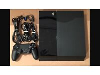 Selling second hand ps4 perfect condition come whit one controller + ( GTAV game)