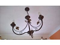 Pendant Verdigris Metal Light Fitting for Sale