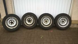 NANKANG Winter Tyres on steel rims 195/65/R15 for SEAT SKODA AUDI VW
