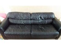 Real leather 3/4 seat couch for sale £60