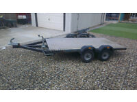 4 wheel car trailer 750kg gross 2.5m x 1.3m flat bed