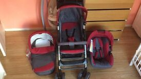 Travel sistem3in1,excellent condition£80,Smart Change Unit £35,Baby Vibrating Musical Bouncy Chair£5