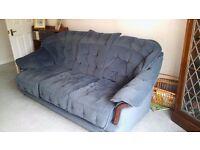 3 piece suite. Dark blue velvet.