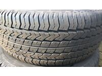 LAND ROVER ALLOY WHEEL AND NEW TYRE