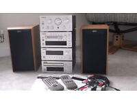 TEAC music system and JAMO speakers