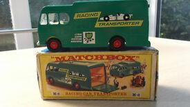Matchbox Racing Car transporter, Vintage, Die Cast.