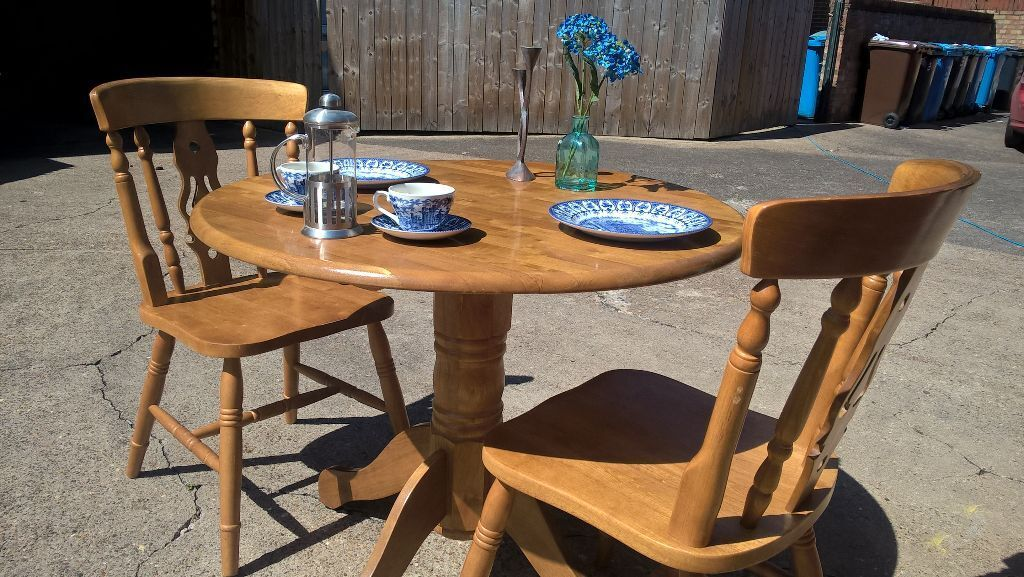 Pine Table And Two Matching Chairs In Hull East Yorkshire Gumtree