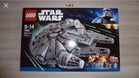 Lego Stars Wars Large Millennium Falcon Ship Set - 7965 New Sealed Rare
