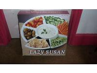 Lazy Susan revolving serving platter