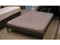 Wide double bed frame with Ikea mattress 190cm x 145cm