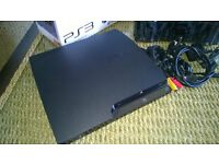 Sony PS3 Slim 120GB, boxed, immaculate condition, 2 x genuine DualShock3 controllers, charging case