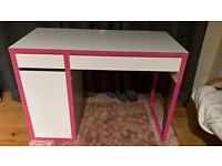 Desk IKEA MICKE Kids/Teen Pink and White Excellent Condition