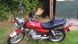 Yamaha ybr 125 custom + extras worth over £100
