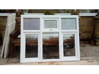 2 white window frames in excellent condition,