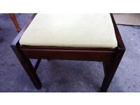 Lovely Piano Stool Pale suede pastal upholstery