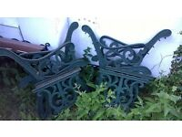 Cast iron bench ends and cast iron table ends