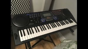 Keyboard with keyboard stand